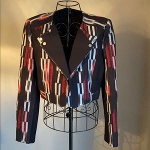 BCBG Black/Red Short Jacket. Size M. NWT